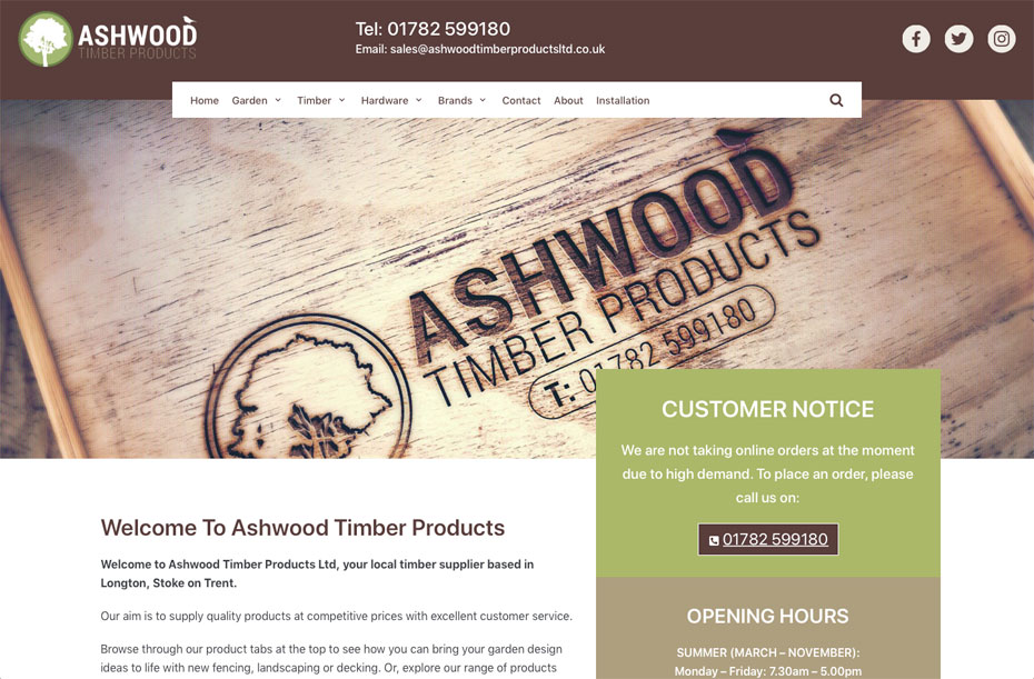 Timber Supplier Website | Home Page 1