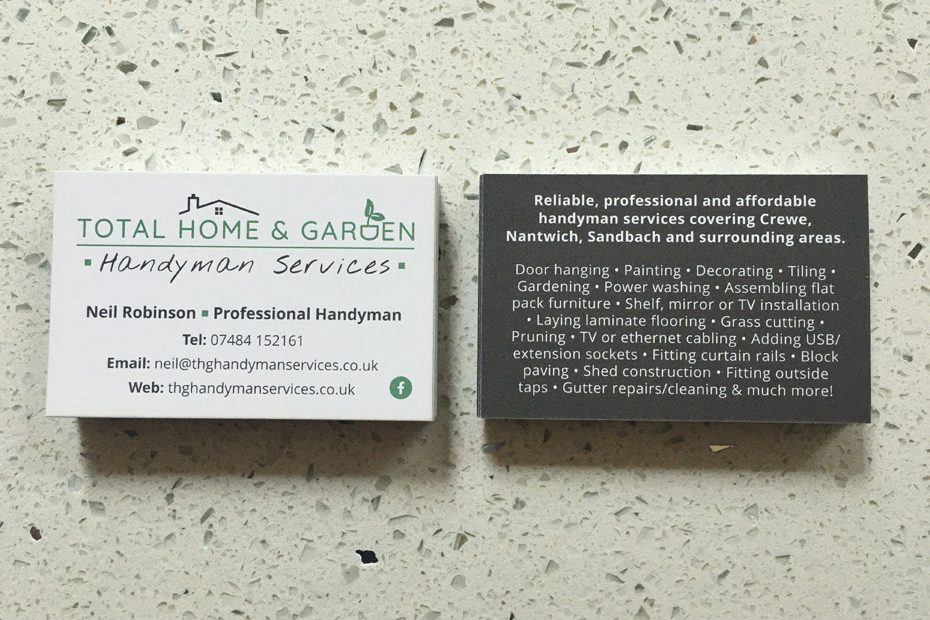 THG Handyman Services Business Cards | Front and Back