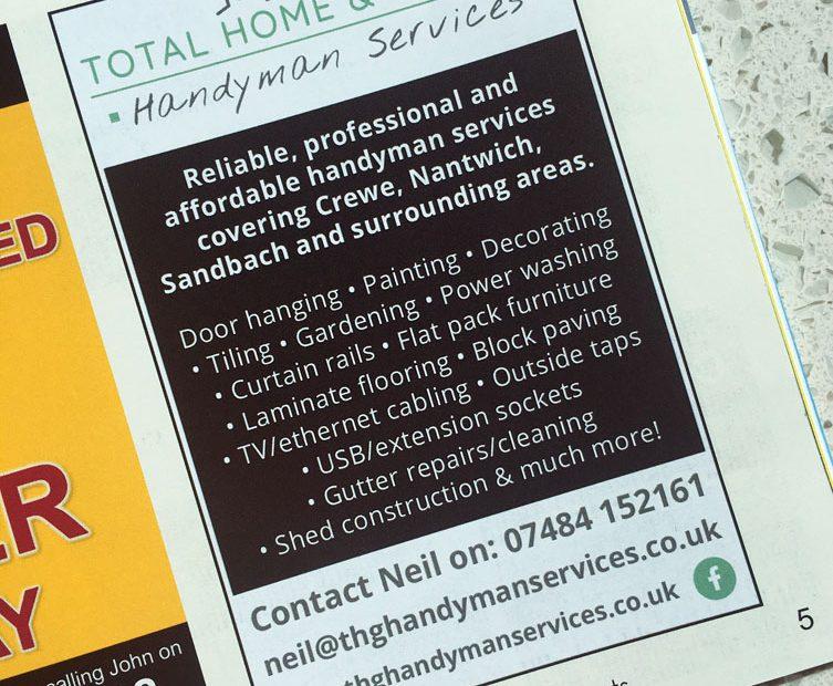 THG Handyman Services Advert