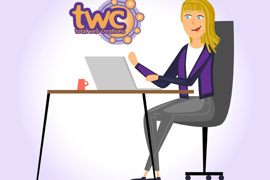 Working Hard for my Clients at Total Web Creations   Websites   Design   Print