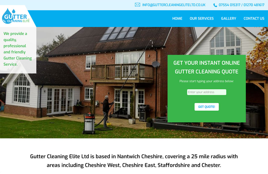 Gutter Cleaning Elite Ltd | Working with Total Web Creations | Home Page