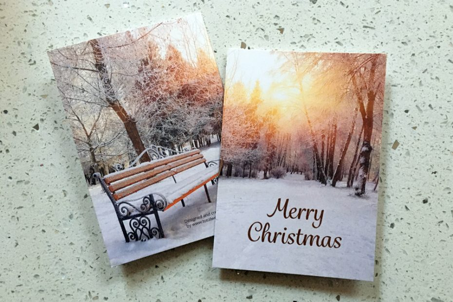 Total Home & Garden Handyman Services   Working with Total Web Creations   Christmas Card Design, Print and Delivery 1