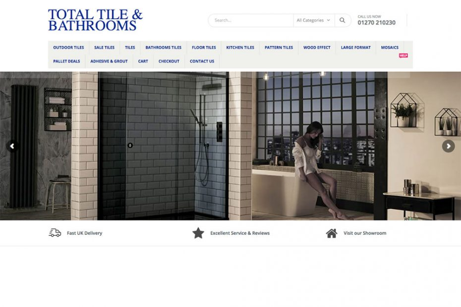 Total Tile & Bathrooms | Working with Total Web Creations | Website Design | Online Shop
