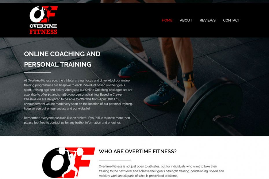 Overtime Fitness | Working with Total Web Creations | Home Page