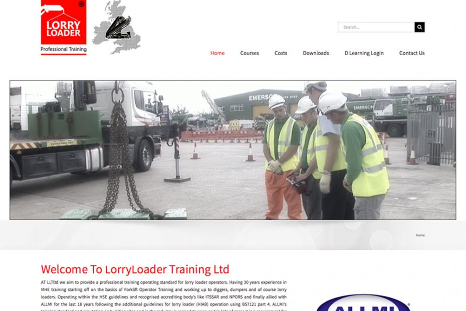 Lorry Loader Training Ltd | Working with Total Web Creations | Website Support | Website SEO