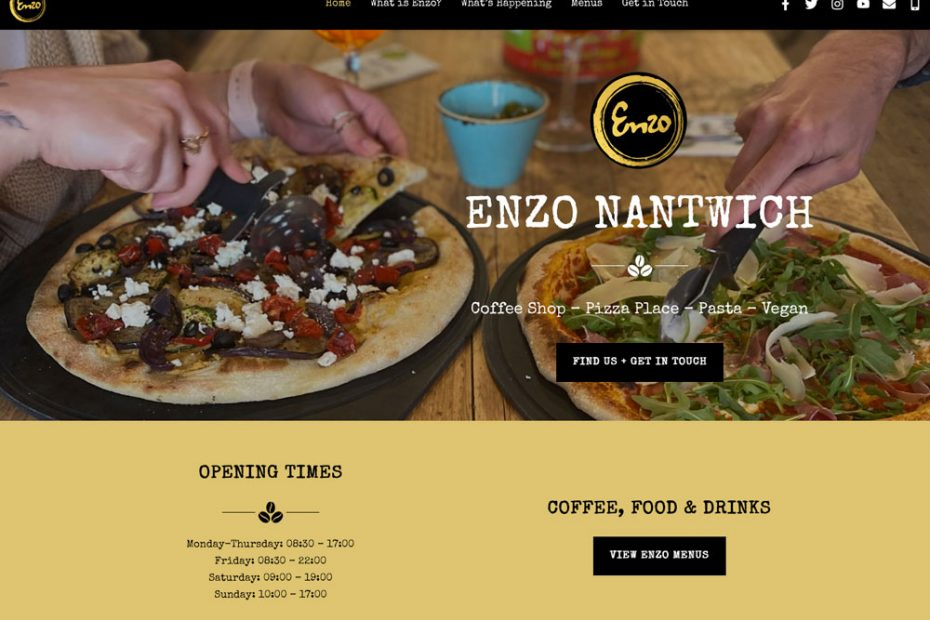 Enzo Nantwich   Working with Total Web Creations   Website Refresh