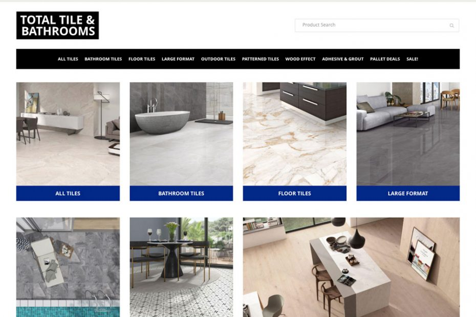 Total Tile & Bathrooms | Working with Total Web Creations | Website Refresh