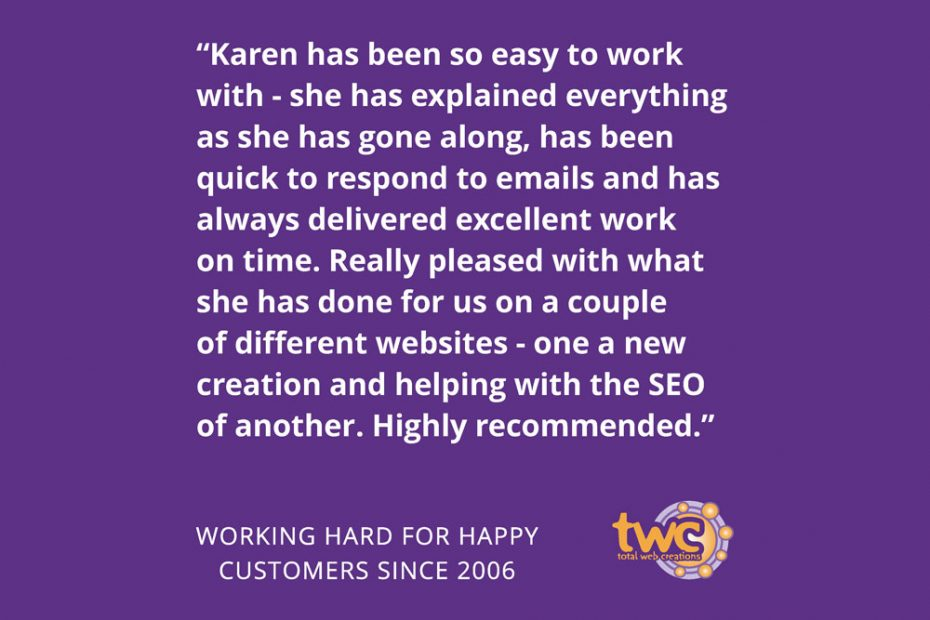 Total Web Creations | Great Customer Reviews | Working Hard for Happy Customers Since 2006